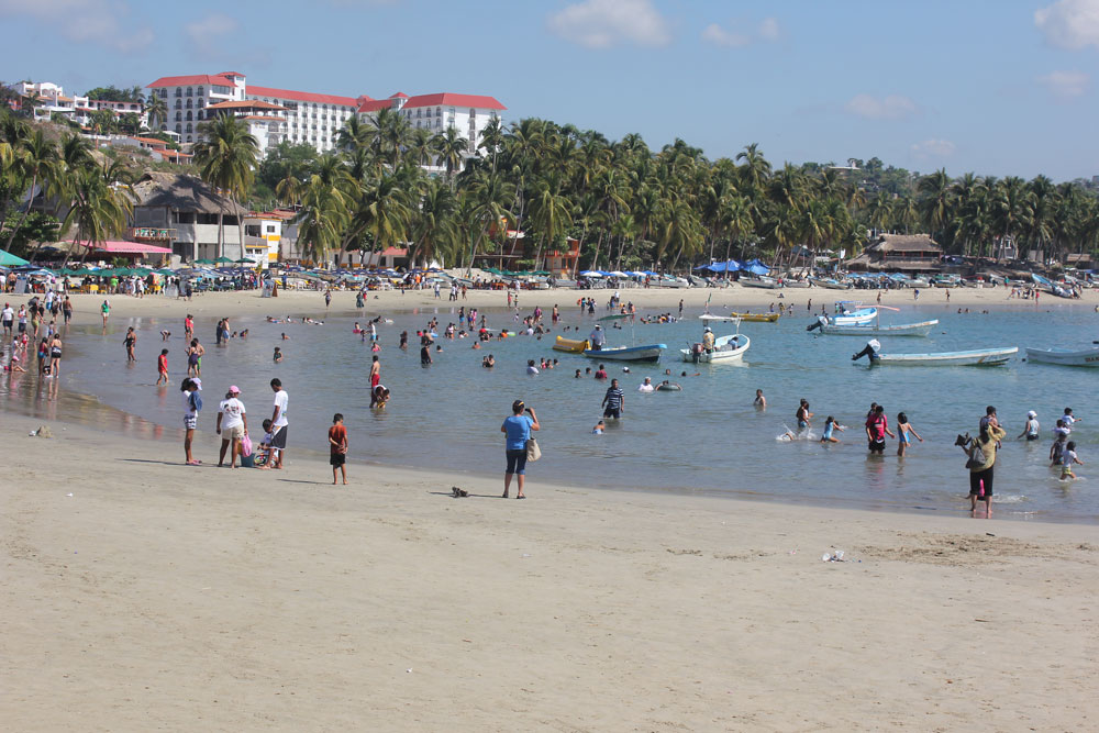 one of the beaches in puerto escondido