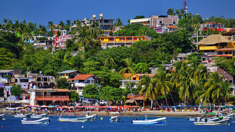 View of Playa Principal, Puerto Escondido